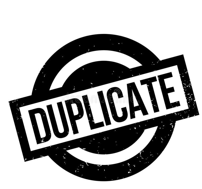 Sello de goma duplicado stock de ilustración
