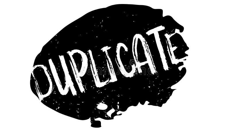 Sello de goma duplicado libre illustration
