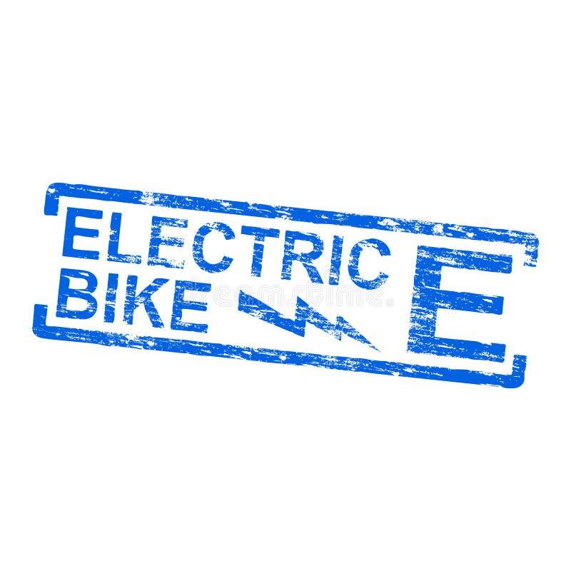 Sello de goma eléctrico de la bici libre illustration