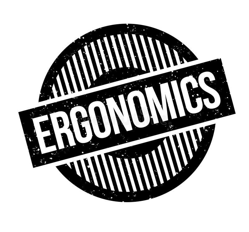 Sello de goma ergonómico ilustración del vector