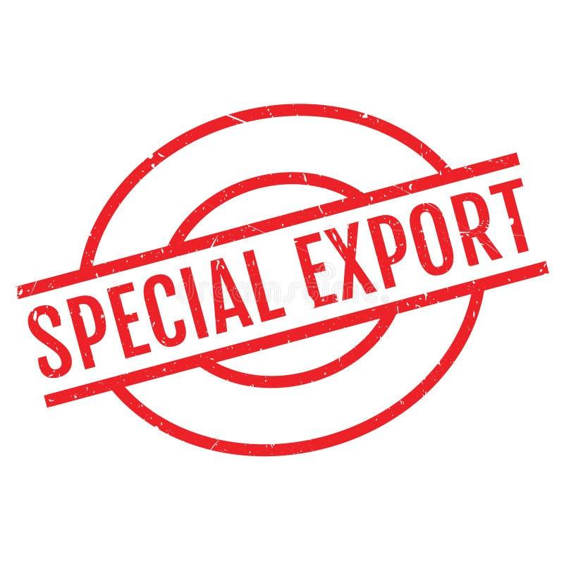 Sello de goma especial de la exportación stock de ilustración