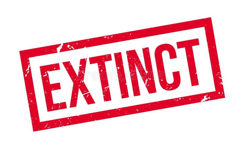 Sello de goma extinto stock de ilustración