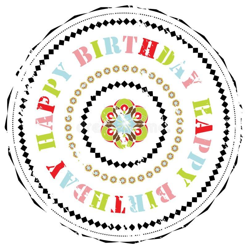 Sello de goma: Feliz cumpleaños ilustración del vector