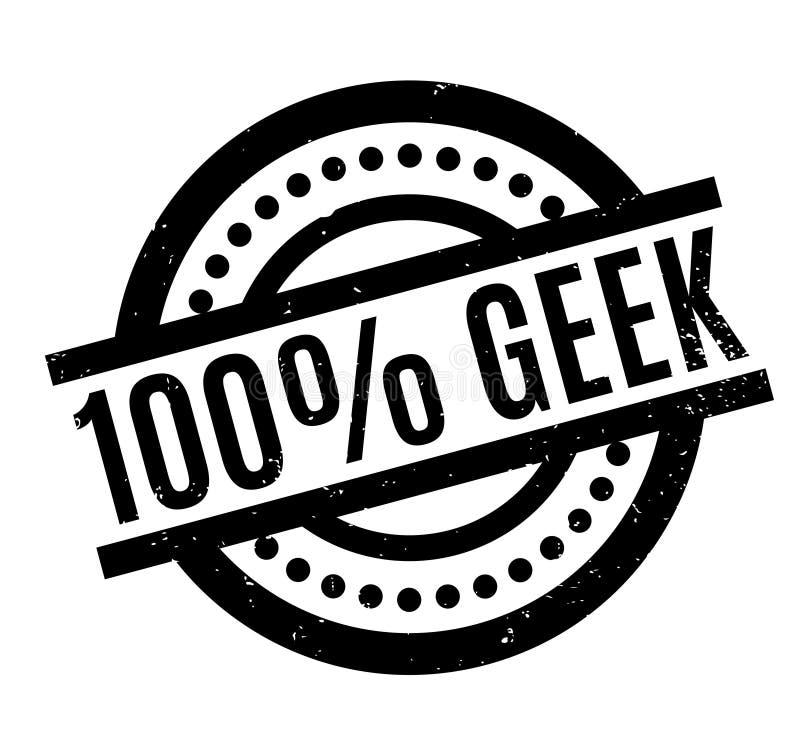Sello de goma de 100 frikis ilustración del vector