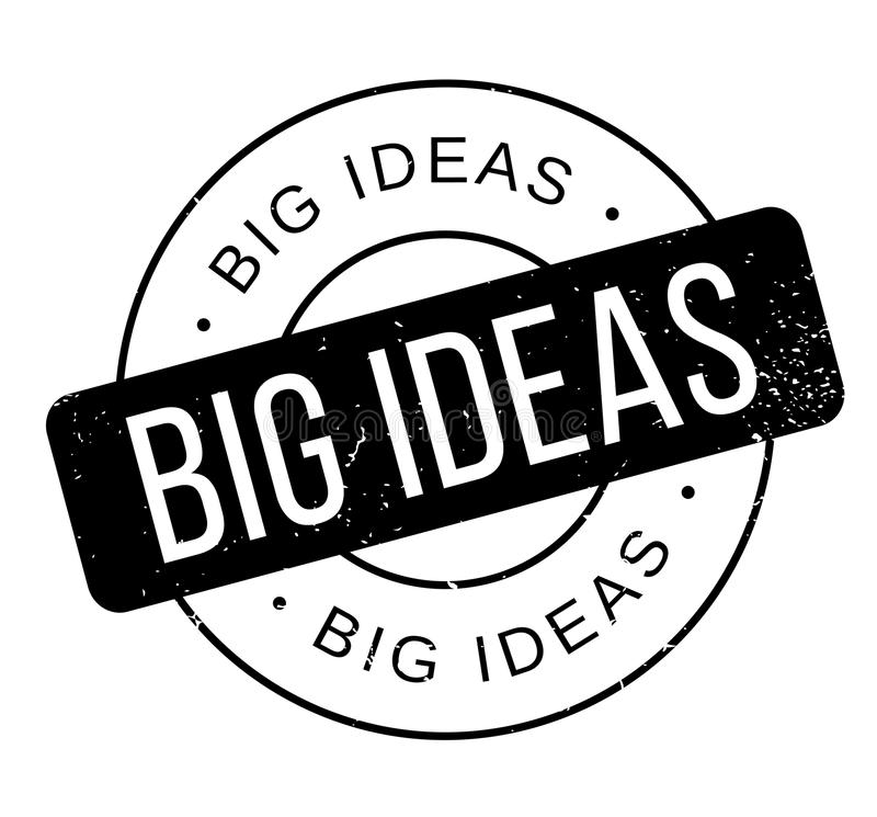 Sello de goma grande de las ideas libre illustration