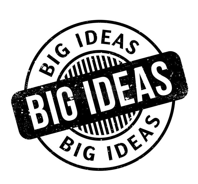 Sello de goma grande de las ideas ilustración del vector