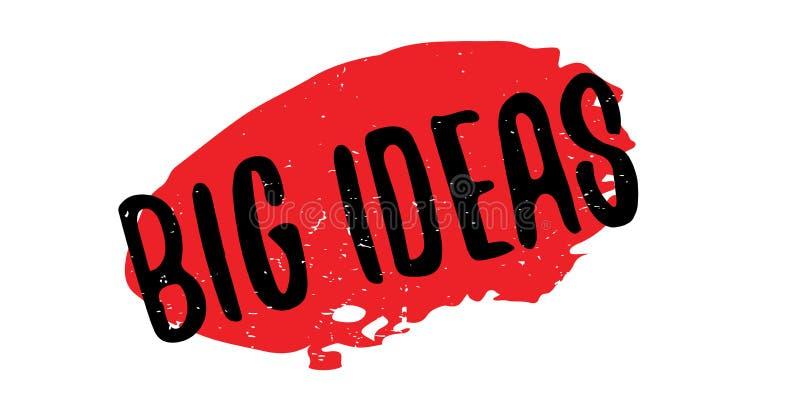 Sello de goma grande de las ideas stock de ilustración