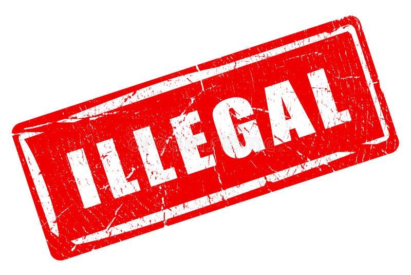 Sello de goma ilegal stock de ilustración