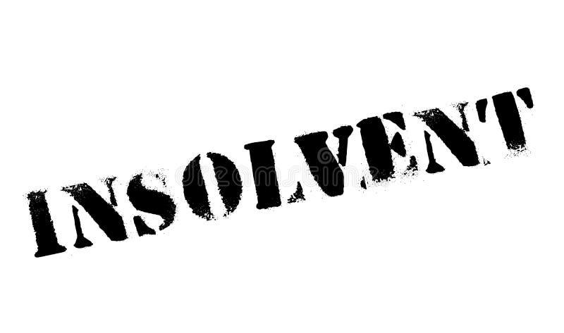 Sello de goma insolvente ilustración del vector