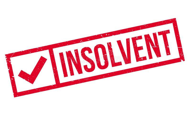 Sello de goma insolvente stock de ilustración