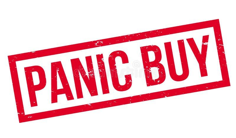Sello de goma de la compra del pánico stock de ilustración