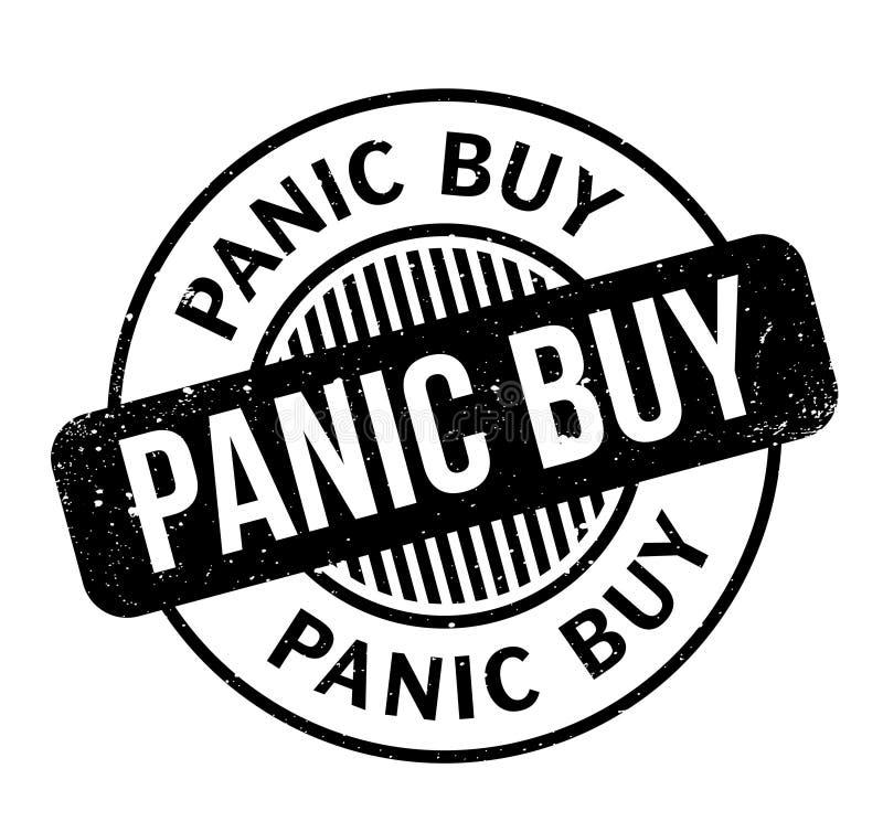 Sello de goma de la compra del pánico libre illustration