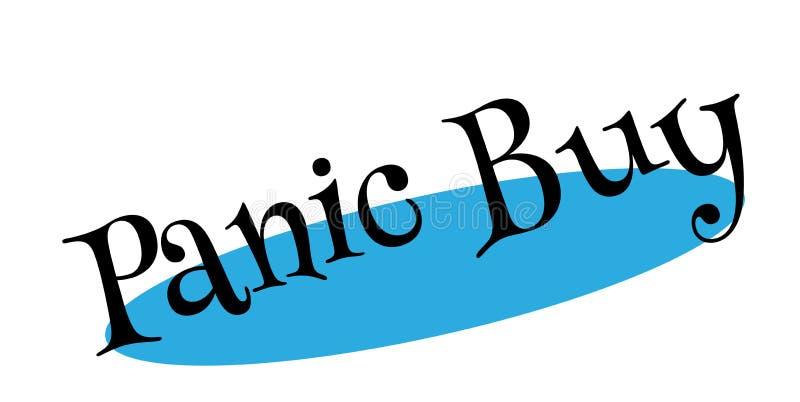 Sello de goma de la compra del pánico ilustración del vector