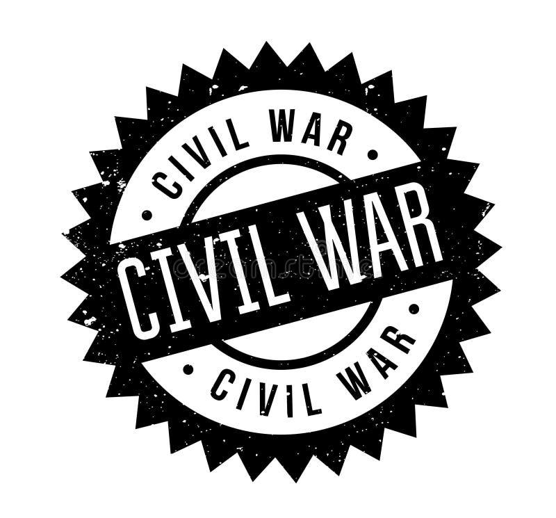 Sello de goma de la guerra civil libre illustration
