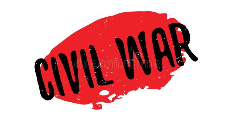Sello de goma de la guerra civil ilustración del vector