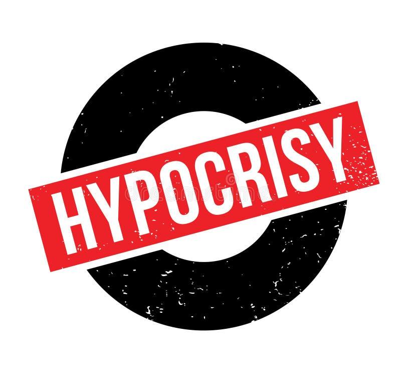 Sello de goma de la hipocresía libre illustration