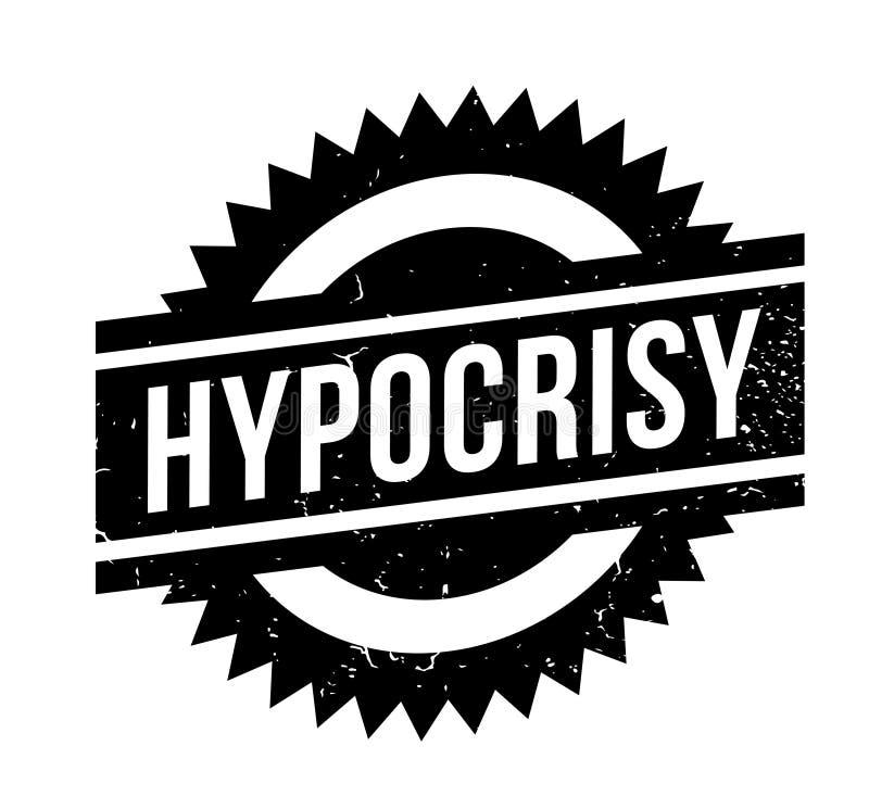 Sello de goma de la hipocresía ilustración del vector