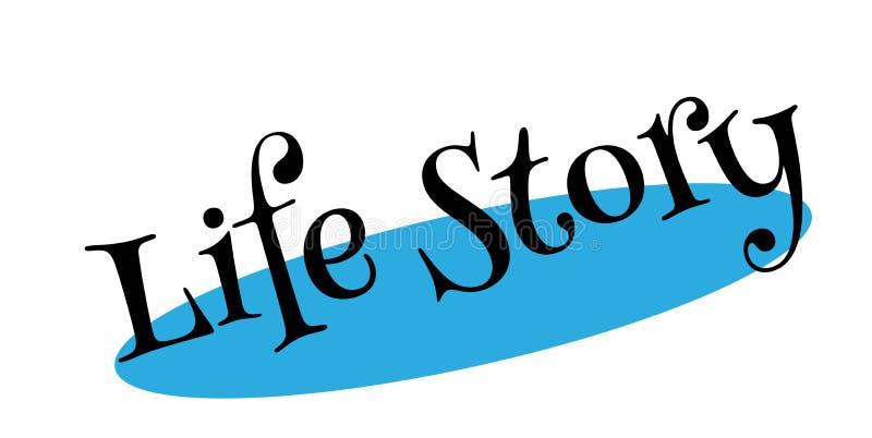 Sello de goma de la historia de vida libre illustration