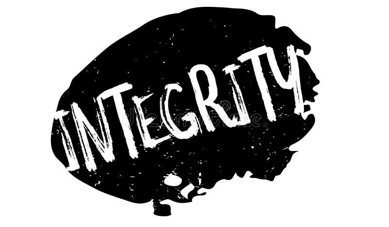 Sello de goma de la integridad stock de ilustración