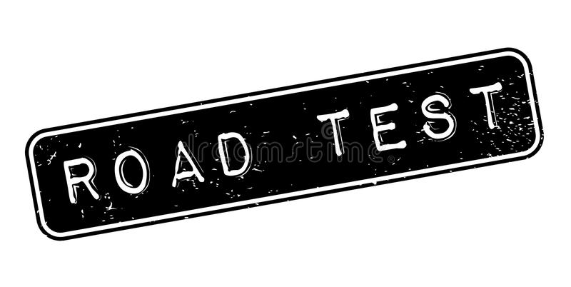 Sello de goma de la prueba en carretera stock de ilustración