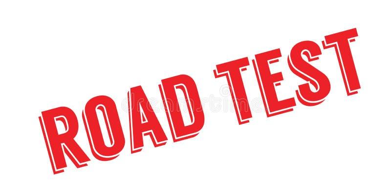 Sello de goma de la prueba en carretera libre illustration