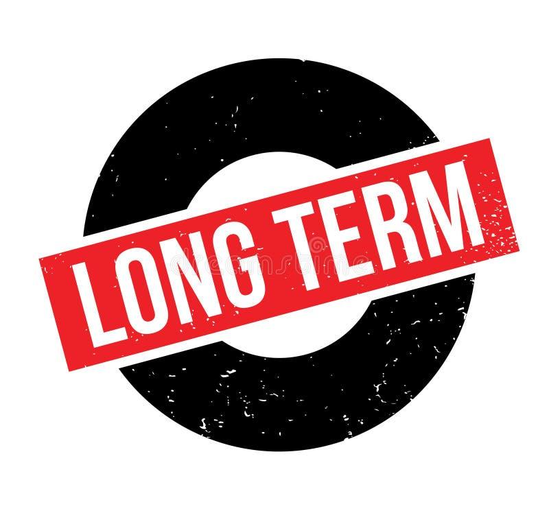 Sello de goma a largo plazo ilustración del vector