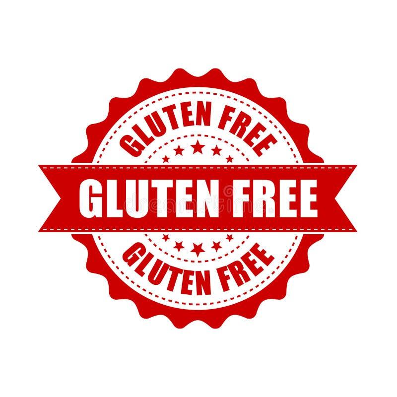 Sello de goma libre del grunge del gluten Ejemplo del vector en los vagos blancos ilustración del vector