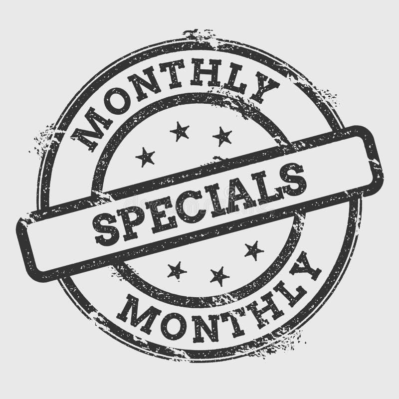Sello de goma mensual de los specials aislado en blanco libre illustration