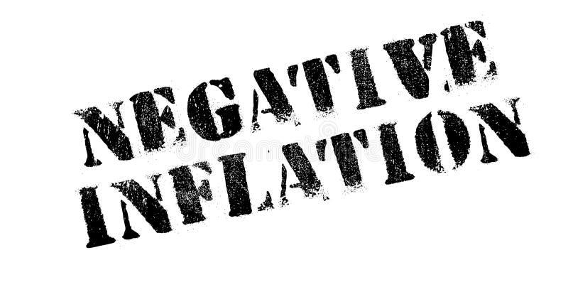 Sello de goma negativo de la inflación stock de ilustración