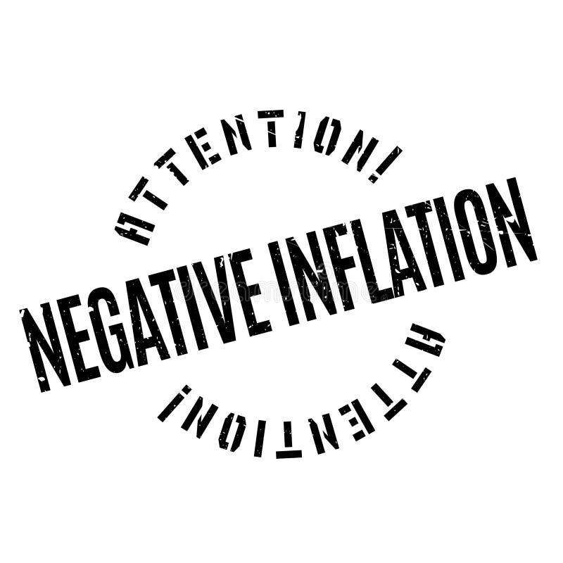 Sello de goma negativo de la inflación ilustración del vector