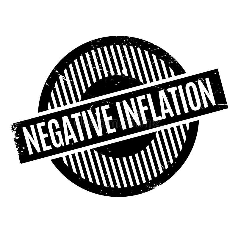 Sello de goma negativo de la inflación libre illustration