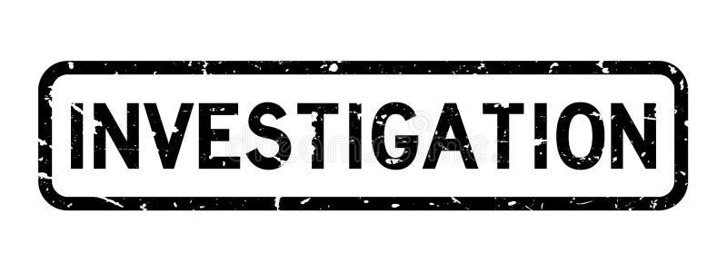 Sello de goma negro del cuadrado de palabra de la investigación del Grunge en el fondo blanco ilustración del vector