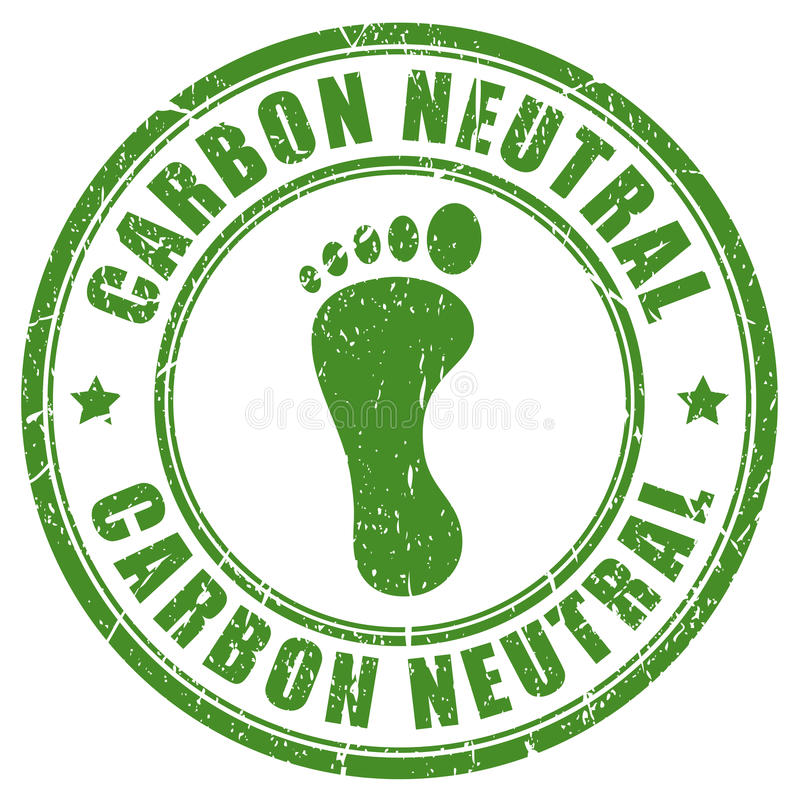 Sello de goma neutral de la huella del carbono libre illustration