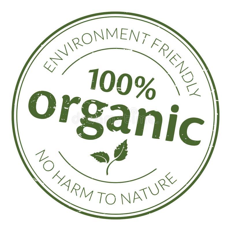 Sello de goma orgánico libre illustration