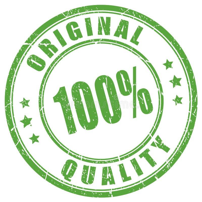 Sello de goma original de la calidad ilustración del vector