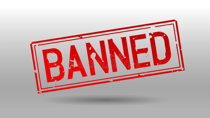 Sello de goma prohibido del grunge libre illustration