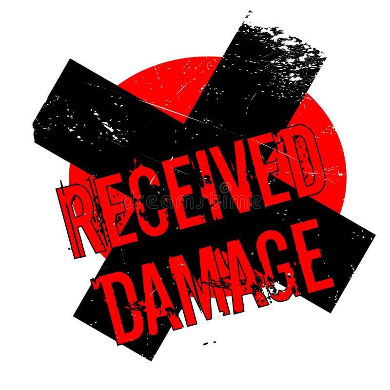 Sello de goma recibido del daño ilustración del vector