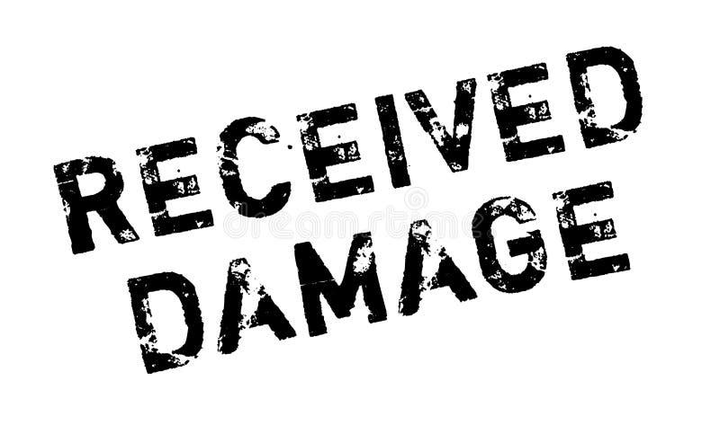 Sello de goma recibido del daño stock de ilustración