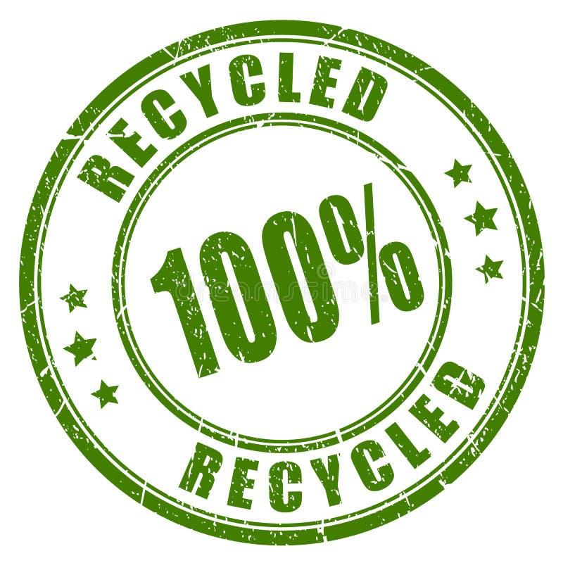 sello de goma reciclado 100 stock de ilustración