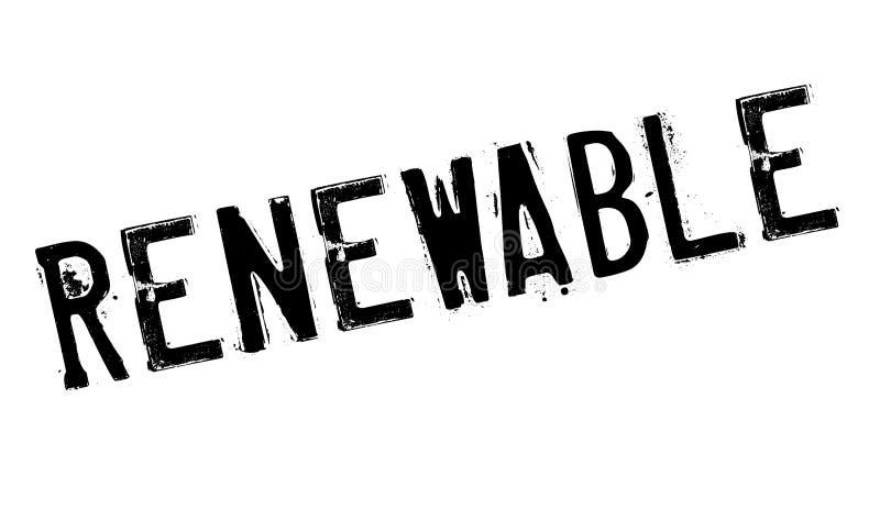 Sello de goma renovable libre illustration