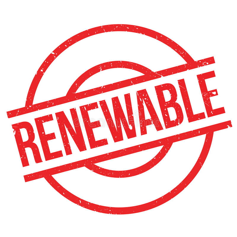 Sello de goma renovable stock de ilustración