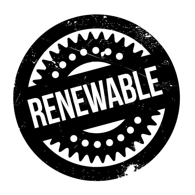 Sello de goma renovable ilustración del vector