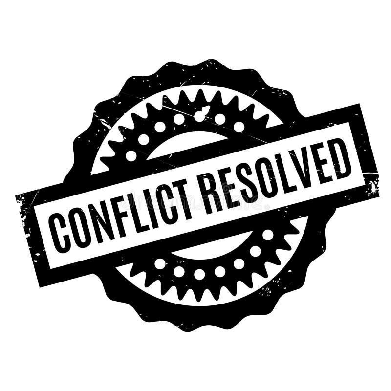 Sello de goma resuelto del conflicto stock de ilustración