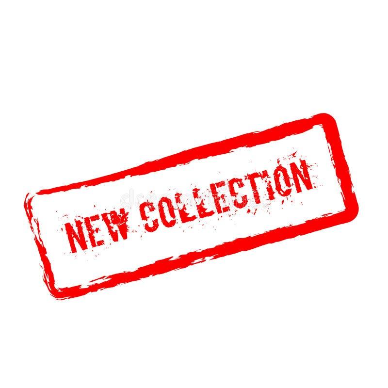 Sello de goma rojo de la nueva colección aislado en blanco stock de ilustración