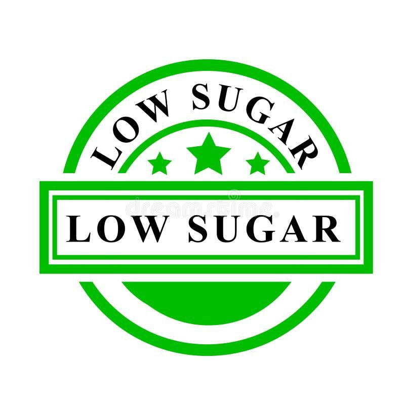 Sello de goma simple del vector, verde y negro, de poca azúcar, aislado en blanco libre illustration