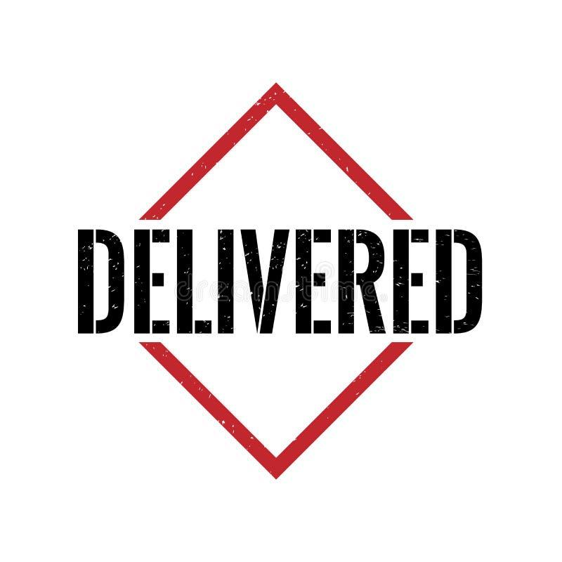 Sello de goma sucio entregado del triángulo negro rojo ilustración del vector