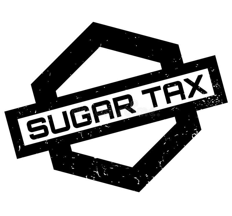 Sello de goma de Sugar Tax ilustración del vector
