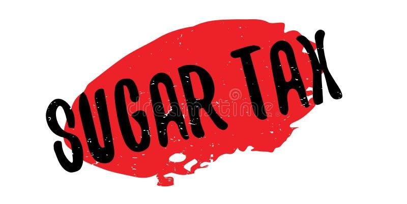 Sello de goma de Sugar Tax stock de ilustración