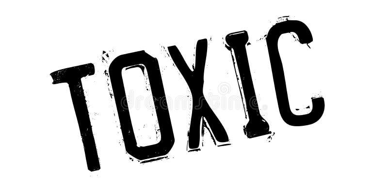 Sello de goma tóxico ilustración del vector