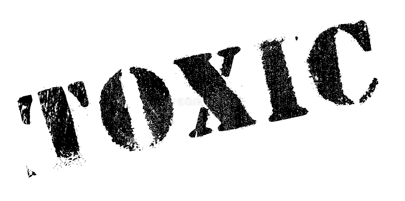 Sello de goma tóxico stock de ilustración